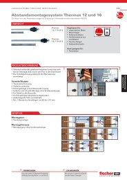 Abstandsmontagesystem Thermax 12 und 16