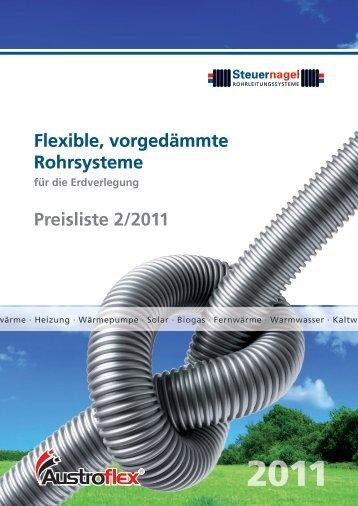 Steuernagel Rohrleitungssysteme, Preisliste 2/2011