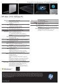 PSG Consumer 1C10 HP Notebook Datasheet - Lauritz.com - Page 2