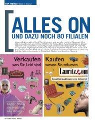 Alles on und dazu noch 80 Filialen - Lauritz.com