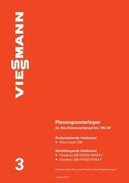 Planungsunterlage Viessmann Vitocrossal 300 - Heizung