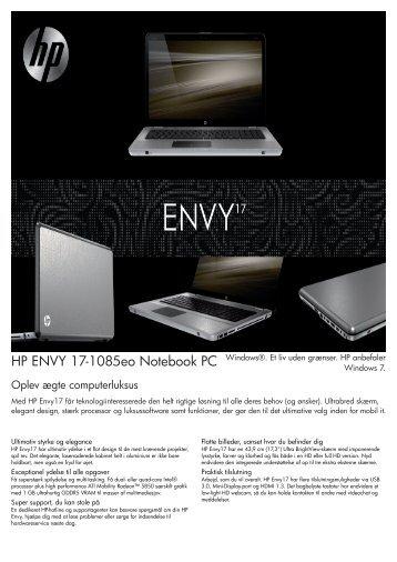PSG Consumer 2C10 HP Notebook Envy Datasheet - Lauritz.com