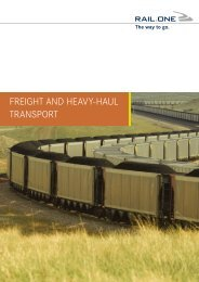 Freight And heAvy-hAul trAnsport - RAIL.ONE GmbH
