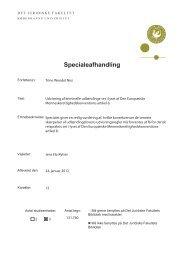 Specialeafhandling - Justitsministeriet