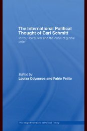 The International Political Thought of Carl Schmitt: Terror, Liberal ...