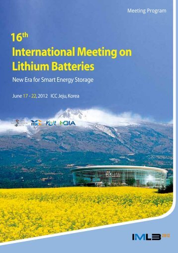 16th International Meeting on Lithium Batteries - IMLB2012