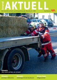 brandAktuell 1/2011(PDF, 4.4 MB) - Feuerwehr Winterthur