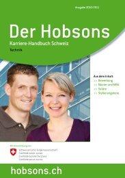 Die Bewerbung - Hobsons Schweiz