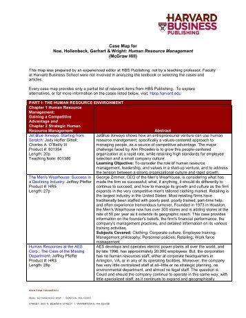 Case Map for Noe, Hollenbeck, Gerhart & Wright - Harvard Business ...