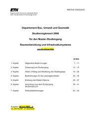 Departement Bau, Umwelt und Geomatik Studienreglement 2006 für ...