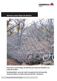 Protección contra flujos de detritos - Geobrugg AG
