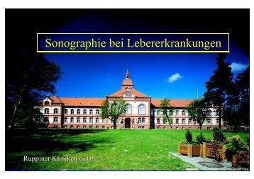 Sonographie bei Lebererkrankungen