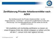 Zertifizierung Privater Arbeitsvermittler nach AZAV - TÜV Süd