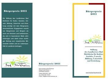 Bürgerpreis 2011 - Landkreis Bad Dürkheim
