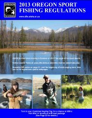 SPOrT FISHIng regulaTIOnS - Oregon Department of Fish and Wildlife