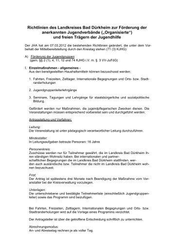 Kinder und Jugendliche - Landkreis Bad Dürkheim