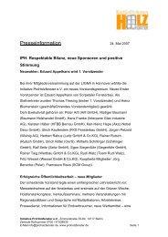 Presseinformation - Bundesverband ProHolzfenster eV