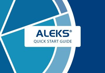 ALEKS Quick Start Guide