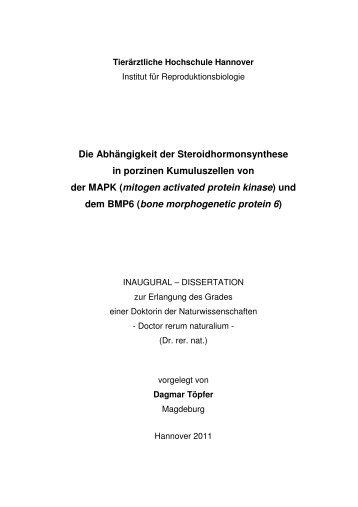 Diss Dagmar Toepfer - Stiftung Tierärztliche Hochschule Hannover