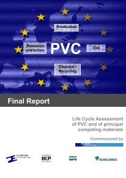 Final Report - Life Cycle Assessment (LCA) of PVC and of principal ...