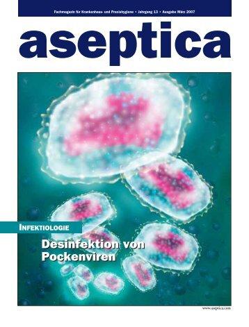 Desinfektion von Pockenviren Desinfektion von Pockenviren - aseptica
