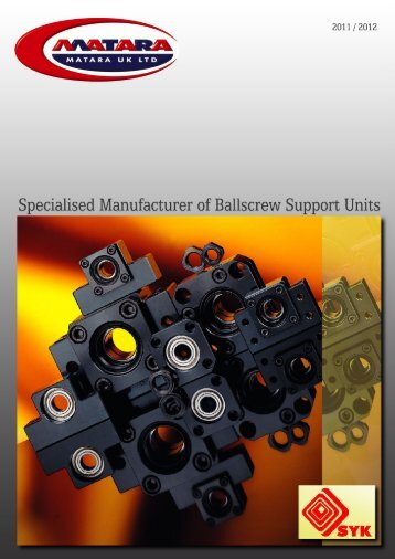 Catalogue of Standard Ballscrew Supports - Matara