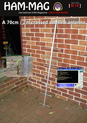 A 70cm / 2m crossed satellite antenna - arkansas ares races
