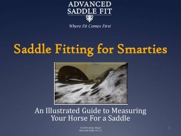 Saddle Fitting for Smarties - Advanced Saddle Fit