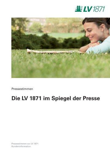 Die LV 1871 im Spiegel der Presse - Lebensversicherung von 1871 ...