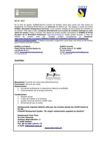 AUSTRIA: - Gobierno de Canarias