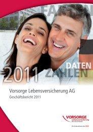 Geschäftsbericht 2011 Vorsorge Lebensversicherung AG - Ergo