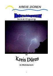 Niederschlagwasser 2012 - Kreis Düren