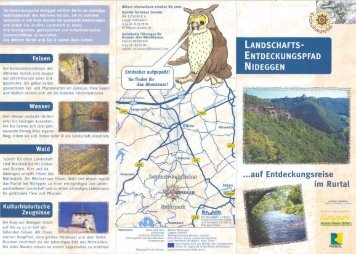 Landschaftsentdeckungs- pfad Nideggen