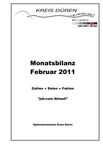 Monatsbilanz 2011/02 - Kreis Düren