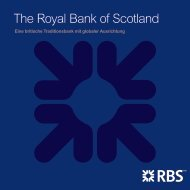 The Royal Bank of Scotland - RBS
