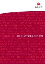 Geschäftsbericht 2010 - Swiss Life