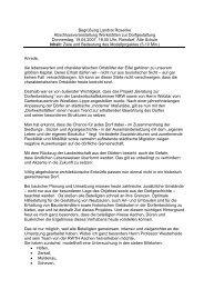 Begrüßung Landrat Rosenke ... - Kreis Euskirchen