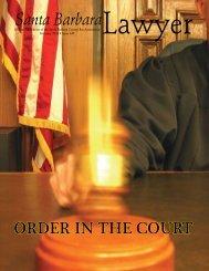 Santa Barbara Lawyer - Santa Barbara County Bar Association