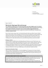 Motorisierter Nagel gegen Beinverkürzungen - UKBB