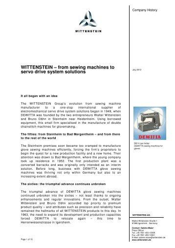 (PDF) - Wittenstein AG