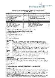 Referat fra Lokalt MED-udvalg (LMU), Kirurgisk Afdeling 6. maj 2010