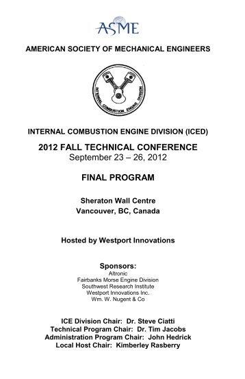 Final Program - Events