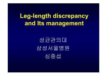 Leg-length discrepancy and Its management