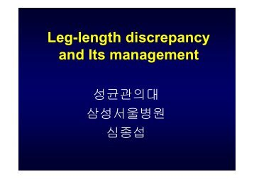 Leg-length discrepancy and Its management