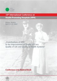 Plenary 1: The Hospital – A Staff Empowering ... - HPH-Conference