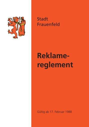 Reklamereglement - Stadt Frauenfeld