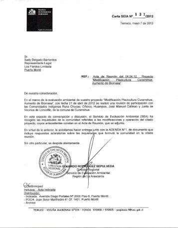 Notificación - SEA - Servicio de evaluación ambiental