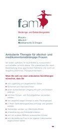 Informationsflyer FAM Ambulante Suchttherapie - La Vida Berlin ...