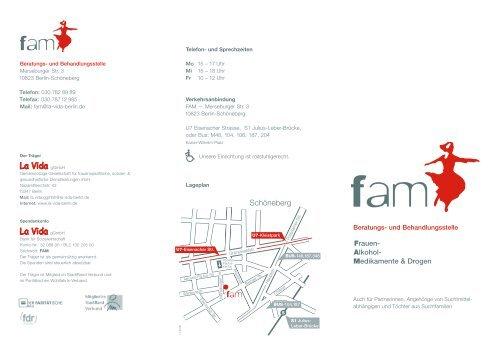 Informationsflyer FAM Beratungsstelle - La Vida Berlin gGmbH