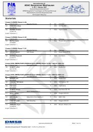 ADAC Bergrennen Mickhausen Starterliste